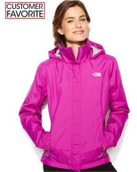 The North Face Resolve Zip-Up Waterproof purple - Lyst
