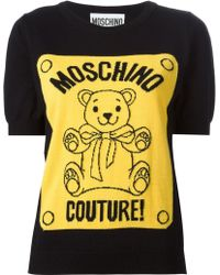 Moschino Teddy Bear Intarsia Sweater - Lyst