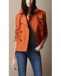 Burberry Cotton Rainwear Trench Jacket - Lyst