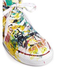 Rialto Jean Project - One Of A Kind Hand-painted Splash High Top Sneakers - Sz 36 - Lyst
