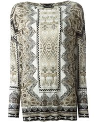Etro Ethnic Print Long Sleeve T-shirt - Lyst