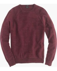 J.crew Slim Rugged Cotton Sweater in Red for Men | Lyst