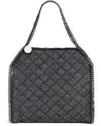 Stella McCartney 'Falabella' Small Quilted Denim Tote - Lyst