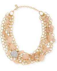 R.j. Graziano - Layered Chain & Bead Bib Necklace - Lyst