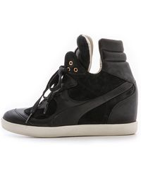 Puma x Alexander McQueen Ofeya Hidden Wedge Sneakers Black - Lyst
