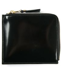Comme Des Garçons 2 Zip Lux Group Black Glossy Wallet - Lyst