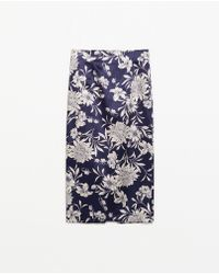Zara Printed Pencil Skirt - Lyst