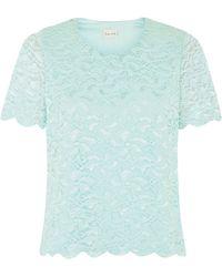 Eastex - Lace Top Soft Aqua - Lyst