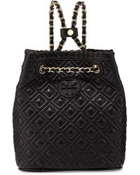 Tory Burch Marion Small Quilted Backpack Black - Lyst