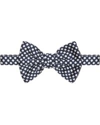 DSquared2 Navy and White Polka Dot Bow Tie - Lyst