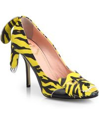 Moschino Cheap & Chic Tiger Paneled Printed Leather Pumps - Lyst