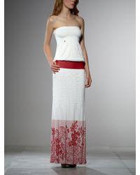Patrizia Pepe Long Printed Stretch Jersey Viscose Dress - Lyst