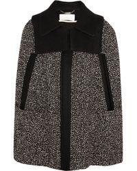 Chloé Wool-tweed Cape - Lyst