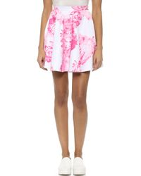 Lover Bloom Skirt - Pink Floral - Lyst
