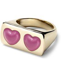 Alison Lou - Love Struck Bar Ring - Lyst