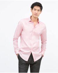 Zara Woven Shirt - Lyst