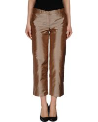 Philosophy di Alberta Ferretti 3/4-Length Trousers brown - Lyst