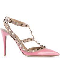 Valentino Pink Rockstud Pumps - Lyst