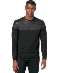 Calvin Klein Solid Sporty Terry Crewneck Tshirt - Lyst