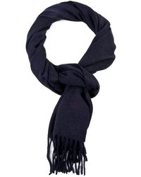 Ralph Lauren Blue Label Blue Cashmere Scarf - Lyst