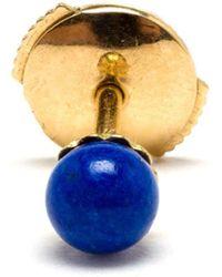 Yvonne Léon 18kt Yellow Gold and Lapis Lazuli Stud Earring - Lyst
