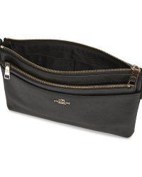 COACH - Swingpack Black Leather Cross-Body Bag - Lyst