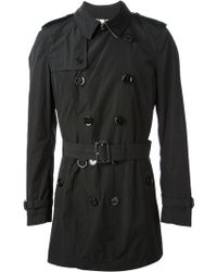 Burberry Brit Mid Length Trench Coat - Lyst