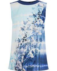 Oasis Tie Dye Wrap Back Shell blue - Lyst