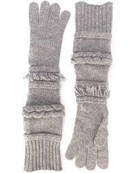 Agnona - Long Gloves - Lyst