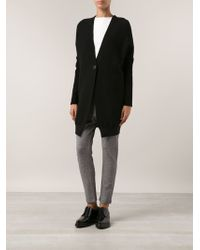 Transit Leather Sleeved Cardigan - Lyst