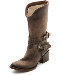 Freebird by Steven - Pikes Wrap Strap Boots - Natural - Lyst