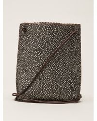 B May - Open-Top Stingray Skin Cross-Body Bag - Lyst
