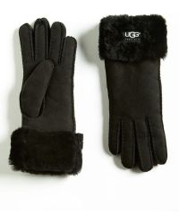 Ugg Turncuff Shearling Gloves - Lyst