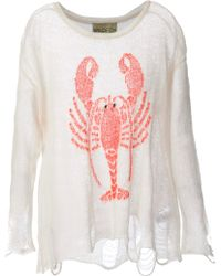 Wildfox White Label - Lobster Print Jumper - Lyst