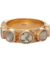 Dezso By Sara Beltran Polki Diamond  Rose Gold Ring - Lyst