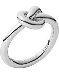 Michael Kors Silver-Tone Knot Ring - Lyst