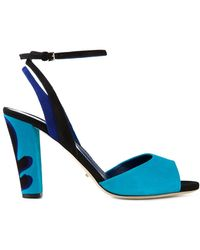 Sergio Rossi Chunky High Heel Sandals - Lyst