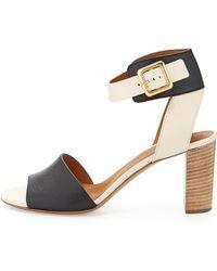 Chloé Bicolor Ankle-Cuff Sandal - Lyst