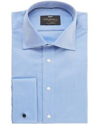 Paul Costelloe Plain Double Cuff Shirt - Lyst