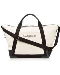 Balenciaga - Ligne Large Cotton-Canvas Weekender Bag - Lyst