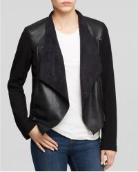 Kut From The Kloth - Lincoln Faux Leather Drape Jacket - Lyst