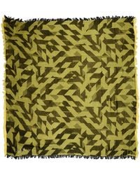 Diesel Square Scarf yellow - Lyst