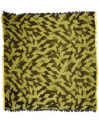 Diesel Yellow Square Scarf - Lyst