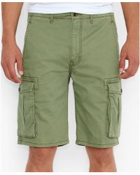 Levi's Vineyard Green Artichoke Ace Cargo Shorts - Lyst