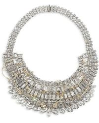 Tom Binns Large White Crystal Necklace With Gold Barbed Wire Large White Crystal Necklace With Gold Barbed Wire - Lyst