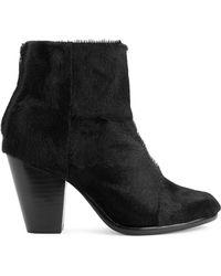 Rag & Bone Newbury Boot In Black Pony black - Lyst
