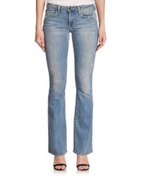 Genetic Denim Leaf Distressed Flared Jeans - Lyst