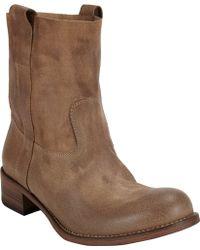 Barneys New York Egan Slouchy Ankle Boots beige - Lyst