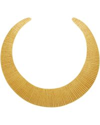 Herve Van Der Straeten - Gold-Plated Curved Collar Necklace - Lyst