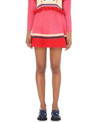 Katie Jones - Sweetheart Wool-blend Skirt - Lyst